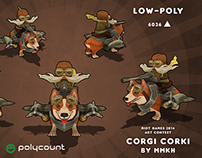 Corgi Corki - Polycount Riot Games Art Contest 2014