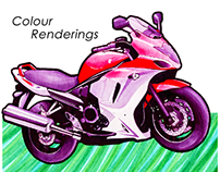 Colour Renderings (traditional mediums)