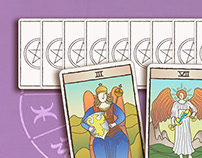 illustration tarot cards