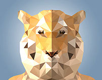 Low Polygonal Tiger