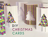 DIY Folded Christmas Cards | FREE TEMPLATE