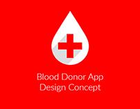 Blood Donor App Design Concept