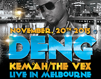 Deng Kema The Vex Live Concert Flyer And Poster Design