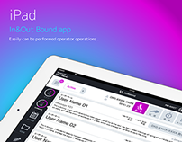 iPad In&Outbound app Design
