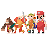 Nintendo Pixel Art Animations