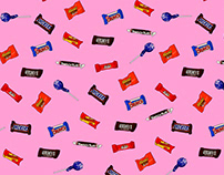 Illustrated Candy tossed repeat print