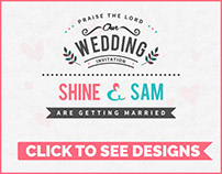 CUSTOMIZED WEDDING INVITATIONS AND BIRTHDAY CARDS