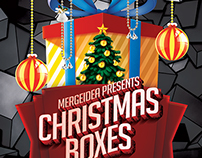 Christmas Boxes Party Flyer