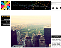 Logo and Web Design: Sustain New York City