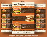 Burger A4 Flyer Template