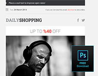 Free Shopping Newsletter Design PSD