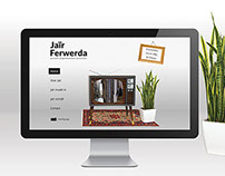 Website for TV presentor