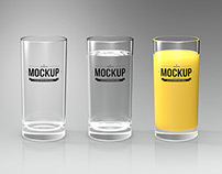 Glass logo mock up | glass of juice, empty glass...