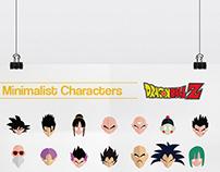 Minimalist Characters : Dragon Ball Z