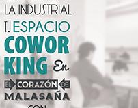 La Industrial branding flyer