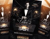 Elegant Birthday Bash Flyer Template