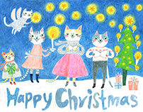 Happy Christmas from cats