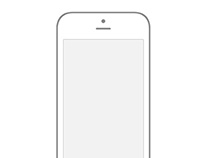 Transparent Iphone 6 Wireframe - PSD
