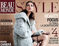 BEAU MONDE magazine | november issue. my COVER shoot.