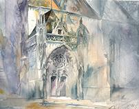 Plen-air watercolor painting