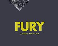 Fury (2014) minimalist movie poster