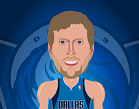 Dirk Nowitzki Illustration