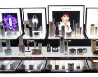 structures for Dior Skincare products display
