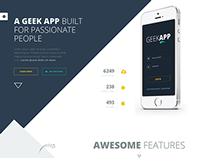 GeekApp - Creative App Landing Page & Blog Theme