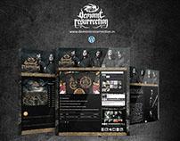 Demonic Resurrection - Wordpress powered website