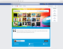 HP Connected Music - Facebook App