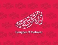 Designer of footwear LOGO concept