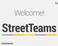 Street Teams Application Mockups
