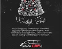 Kartka Świąteczna - Auto-CUBY