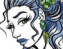 Illustration - Fashion girl