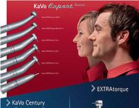 Adesivo para revenda KaVo com linhas de instrumentos