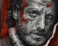 Walking Dead - Monochromatic Portraits