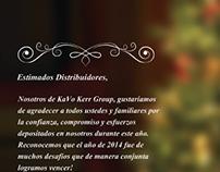 Cartão Final de Ano distribuidores Kavo America Latina