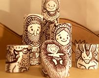 Doodle Nativity Scene