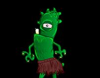 Game Art- Flash ani. of Character: idle/walk states