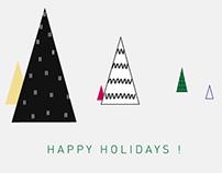 Aukin Happy Holidays Card
