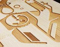 Bamboo laser longboard