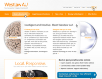 Westlaw AU microsite design for Thomson Reuters