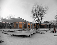 An inspiration of Farnsworth House