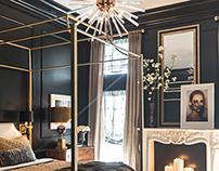 Black & Brass Bedroom Suite