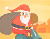 Santa Claus Motorcycle Delivery