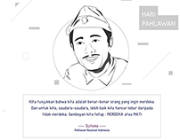 Melukis Harapan Poster for Indonesia Heroes Day
