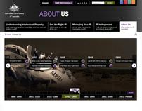Interactive timeline for IP Australia