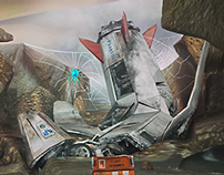 Spaceship on an alien planet