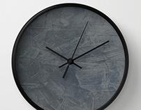 Slate Gray Stucco Wall Clock
