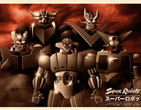 SUPER ROBOTS - TRIBUTE POSTER